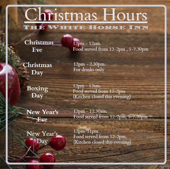 Christmas hours web